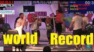 NEW WORLD RECORD SQUAT 1003LB/455KG | JEZZA UEPA