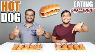 VEG HOT DOG EATING CHALLENGE | Hot Dog Eating Competition | Food Challenge