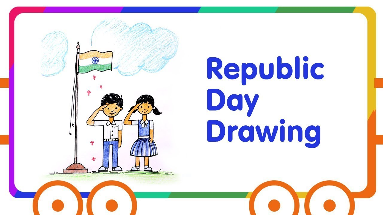 Happy Republic Day Celebrations Drawing Drawing Tutorial For Kids