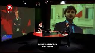 Tensione tra Pierluigi Diaco e Alessandro Di Battista a Radio RTL.