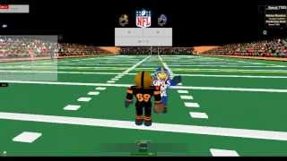 Playing Roblox Football Legends
