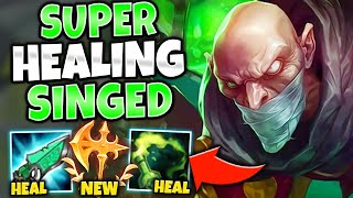 *PROXY IN BASE* SINGED HEALING BUILD MAKES YOU IMPOSSIBLE TO KILL - League of Legends