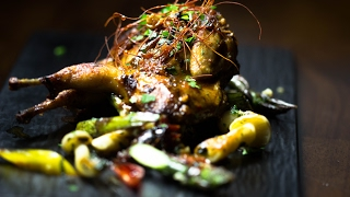 Recipe: Quail with Spiced Pan Seared Vegetables