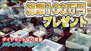 総額100万円以上の鉱石・宝石プレゼント!!地球が造った宝物【ミネラルマルシェ 】