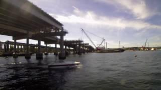 WABN girder installation time-lapse - Aug. 10 to Aug. 13