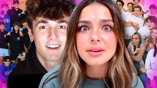 Tik Tok stars Addison Rae and Bryce Hall DATING again? Sway House & Hype House BREAK UP?!
