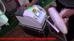 Demo of portable nd yag laser tattoo removal machine from Beijing Mejire