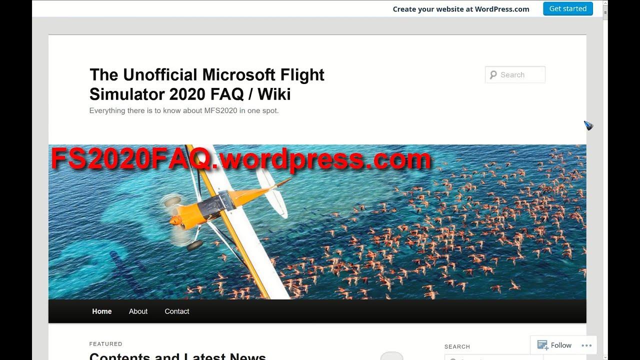 The Unofficial Microsoft Flight Simulator 2020 FAQ / Wiki ...