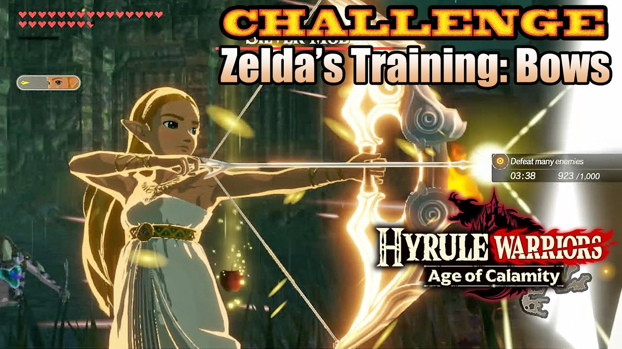 Hyrule Warriors Age Of Calamity Zelda S Training Bows Challenge In 7 29 Youtube