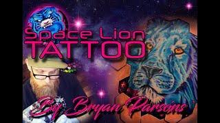 Space lion tattoo Win a free tattoo. How? RED the disciption below