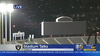 RAIDERS IN OAKLAND: Oakland Raiders may be nearing an agreement to play next season in Oakland