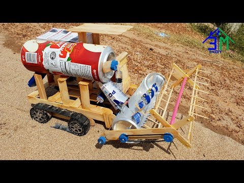Amazing Rice Harvesting Machine Made From Popsicle Stick And Cans, Creative Idea by 3M DIY