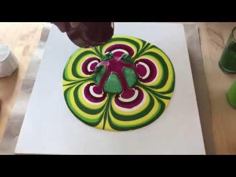 Acrylic Pouring 17 Je Teste La Peinture Castel Art Youtube