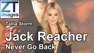 Tallia Storm at the film premiere Jack Reacher: Never Go Back in London, UK.