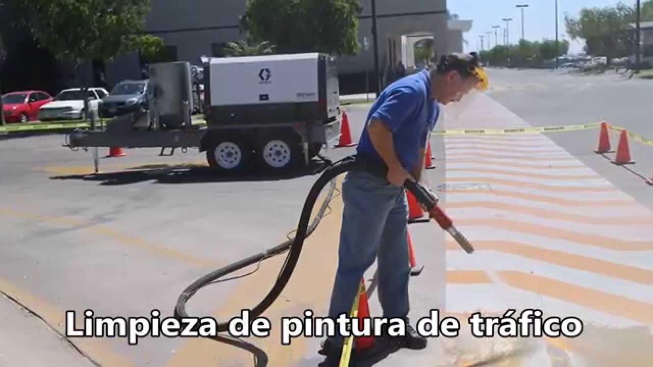 Quitando pintura de trafico con el eq200t youtube - Como quitar rayones del piso vinilico ...