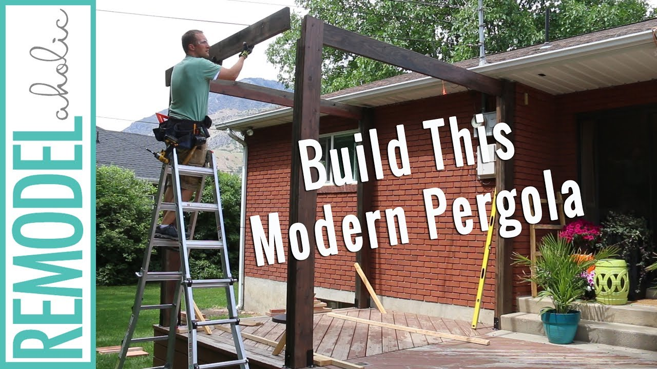 How To Build A Pergola On A Deck Diy Modern Pergola Tutorial