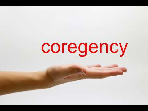 How to Pronounce coregency - American English