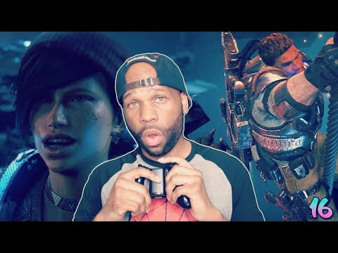 Gears of War 4 Walkthrough Gameplay Part 16 - Get Out (Insane Difficulty)