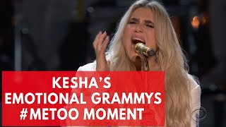 Kesha's emotional 'praying' performance in Grammys 2018 #Metoo moment brings people to tears