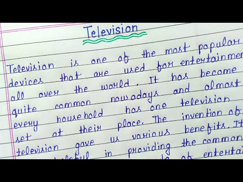 Write an essay on television in english    Television essay writing