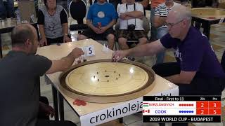 2019 Crokinole Cook v Berzlanovich - World Cup - Budapest Final