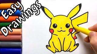 pikachu drawings easy draw step