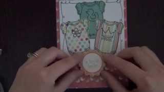 Build a Onesie Girl Baby Card