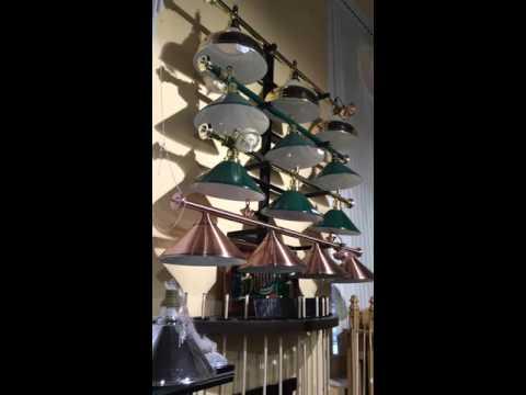 Лампы-светильники для освещения бильярдных столов