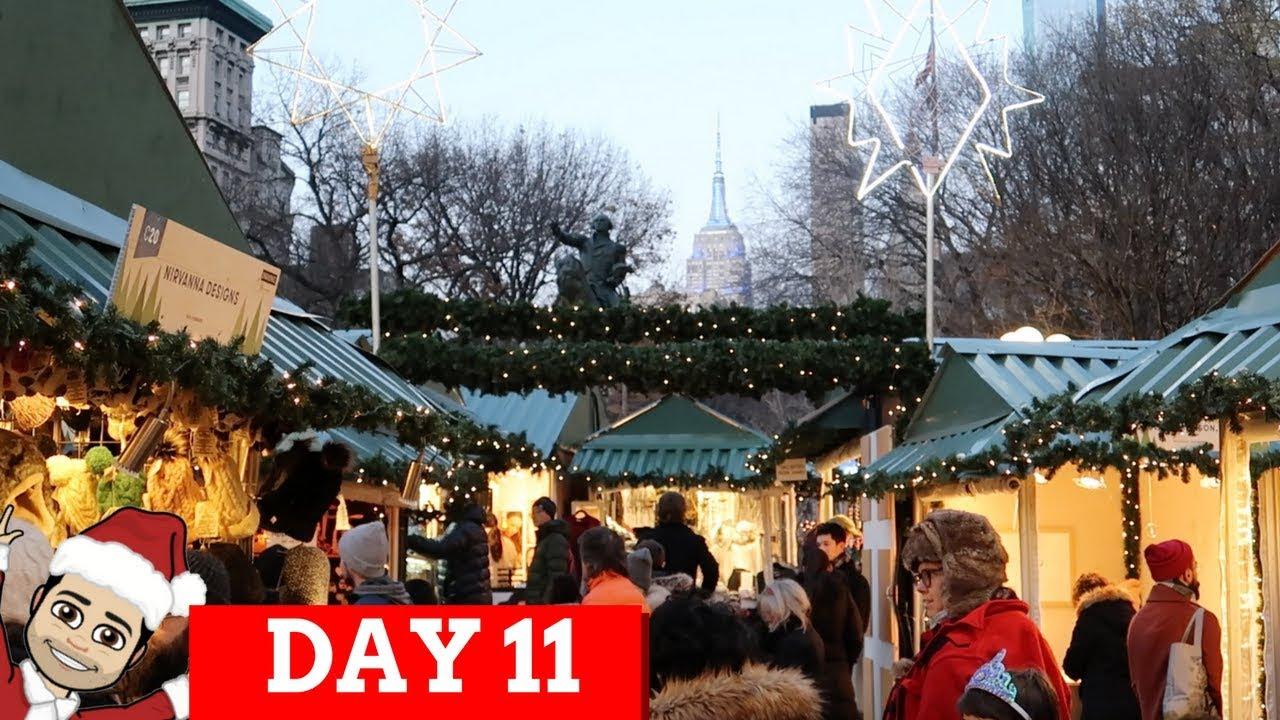 UNION SQUARE CHRISTMAS MARKET NYC   VLOGMAS - YouTube