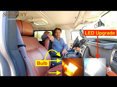 How To Replace | Upgrade HUMMER H2 Center Console Light to LED Light Bulb | H2 LED Upgrade