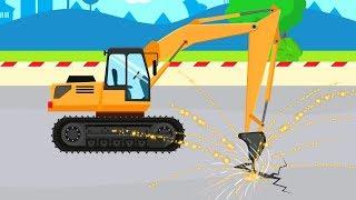 Excavator & Construction Machinery | Mini digger machine with pneumatic breaker tool | Maszyny
