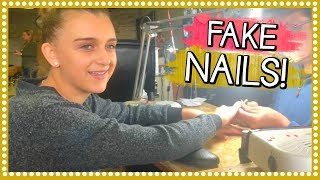FIRST TIME GETTING FAKE NAILS