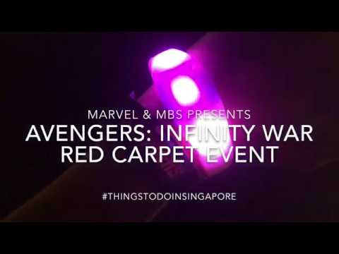 Betel Box at the Marvel Avengers: Infinity War's Red Carpet Event Singapore