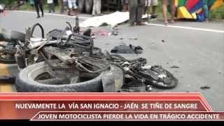 ACCIDENTE DE TRANSITO VIA SAN IGNACIO   JAÉN