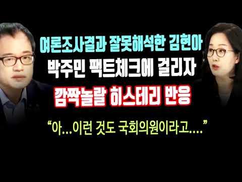 박주민 여론조사 결과 팩트체크에 당황한 김현아의 히스테리 반응