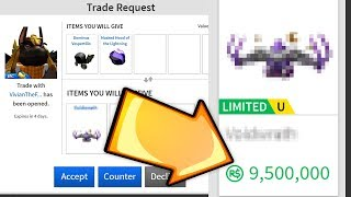 TRADING FOR A 10 MILLION ROBUX ITEM!! *EXPENSIVE* (Roblox)