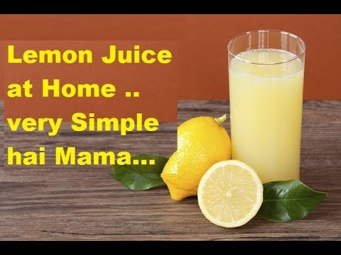 How to make lemon juice ( recipe at home)