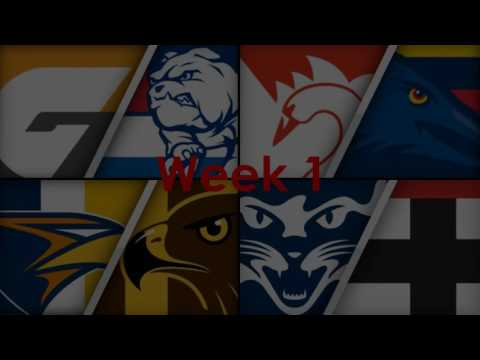 2017 AFL Ladder Predictions + Finals (Club Songs)
