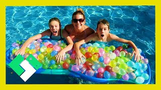 Video EPIC 300 WATER BALLOON FIGHT! KIDS VS PARENTS! (Day 1889) download MP3, 3GP, MP4, WEBM, AVI, FLV Desember 2017