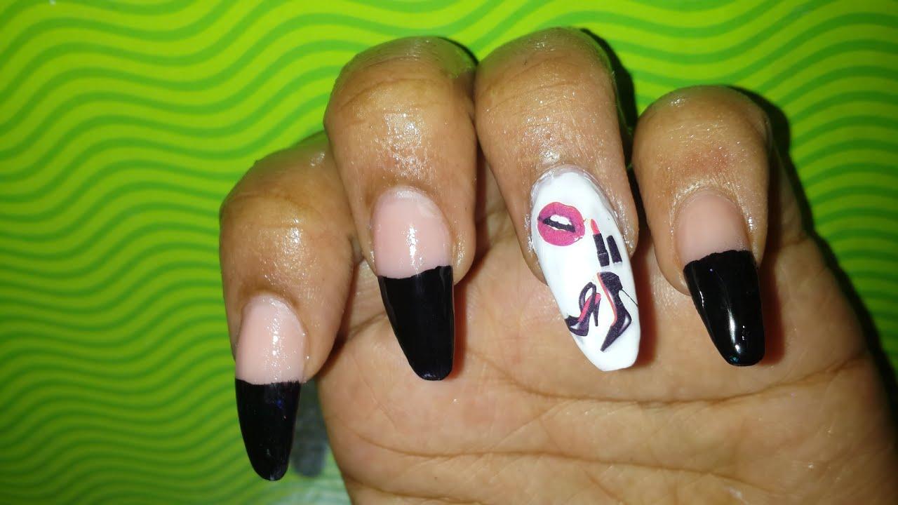 💅BornPrettyStore Review #1 *Lipstick Nail Art*💅 - Nail Tutorial ...