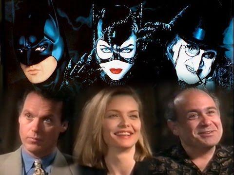 """Batman Returns"" Interviews.  Michael Keaton, Michelle Pfeiffer, Danny DeVito, & Tim Burton."
