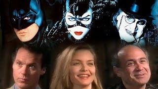 """Batman Returns"" Interviews.  Michael Keaton, Michelle Pfeiffer, Danny DeVito, & Tim Burton."