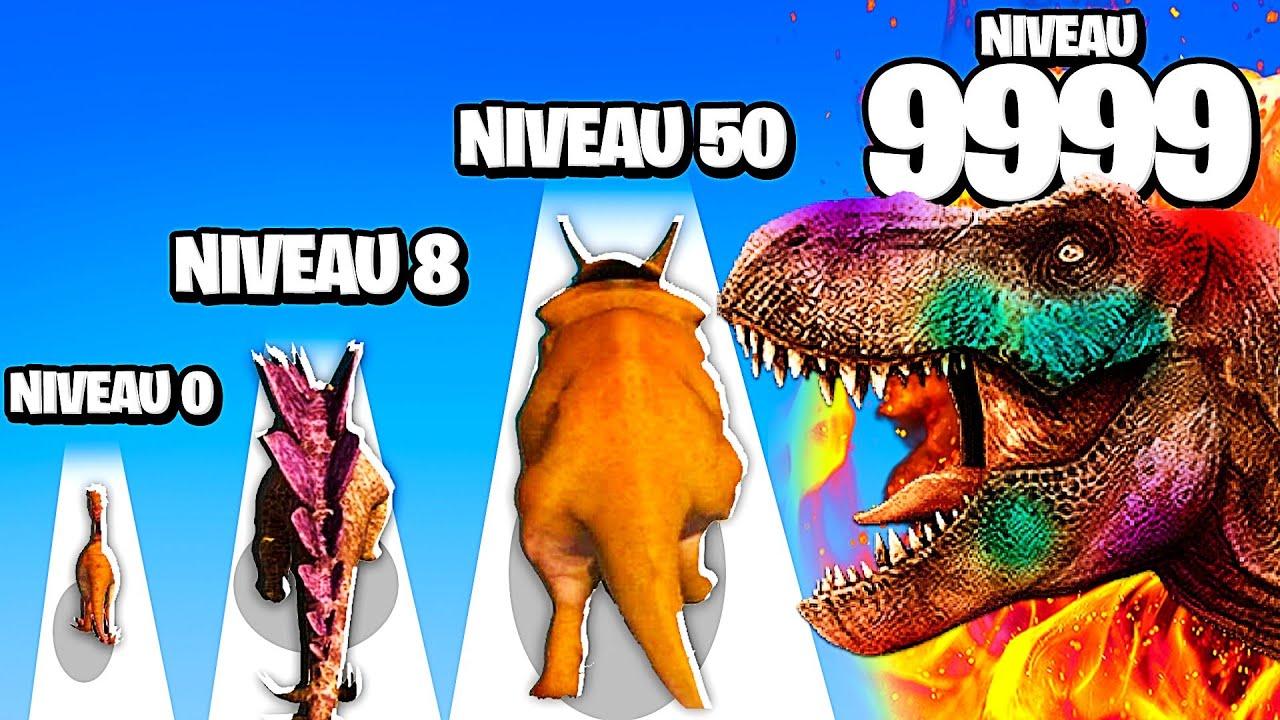 LES MEILLEURES ÉVOLUTIONS DE DINOSAURES POSSIBLE ! (Dino World 3D)