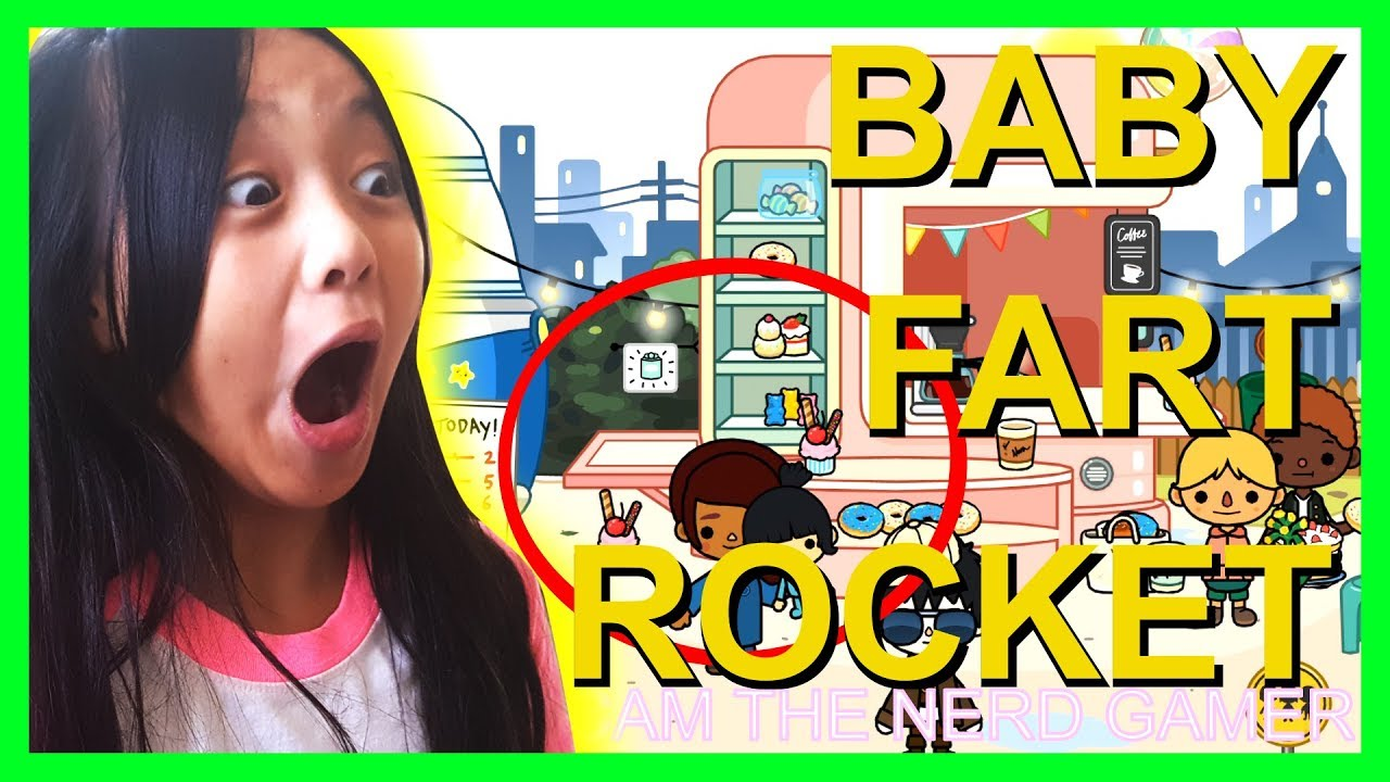 TOCA BOCA CITY LIFE THE BABY FART ROCKET with CAM CAM THE ...
