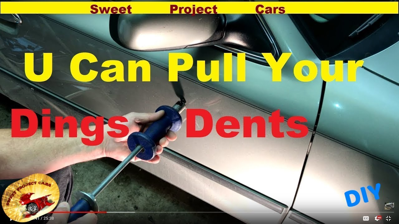 HOW TO Remove Simple Door DINGS u0026 DENTS for DIYu0027ers & HOW TO: Remove Simple Door DINGS u0026 DENTS for DIYu0027ers - YouTube