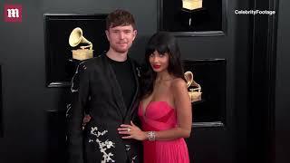 Jameela Jamil and James Blake get close at 2019 Grammy Awards