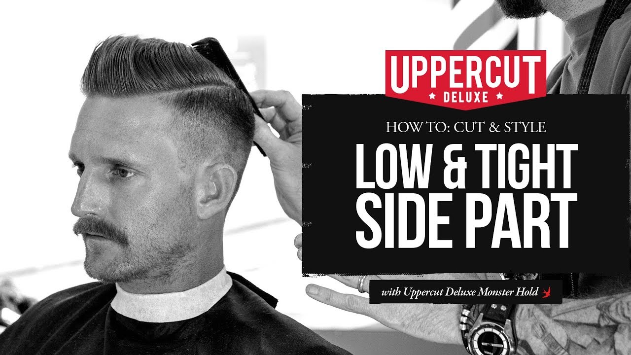 haircut tutorial: how to cut & style a low & tight side part x