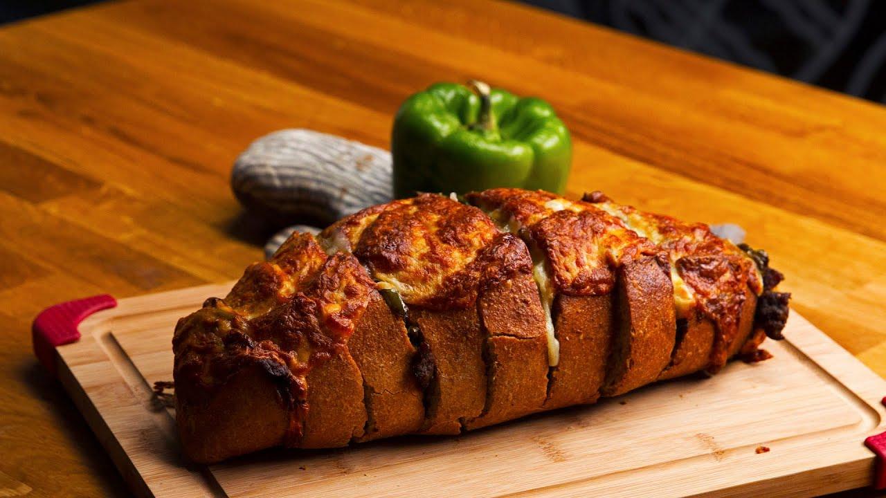 Hasselback Cheesesteak Sandwiches