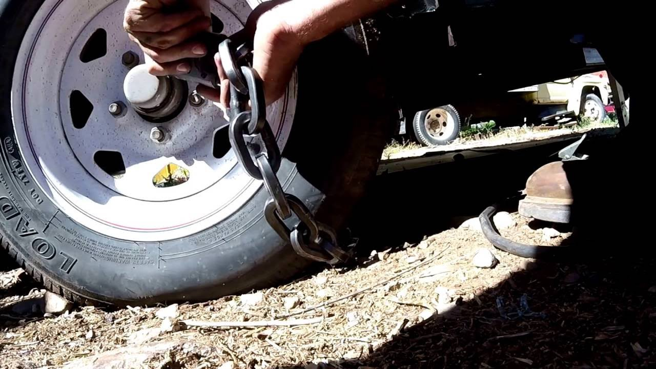 Best Lock For a Trailer Camper RV Security Chain Can't Be Cut With Bolt  Cutters Pick Proof