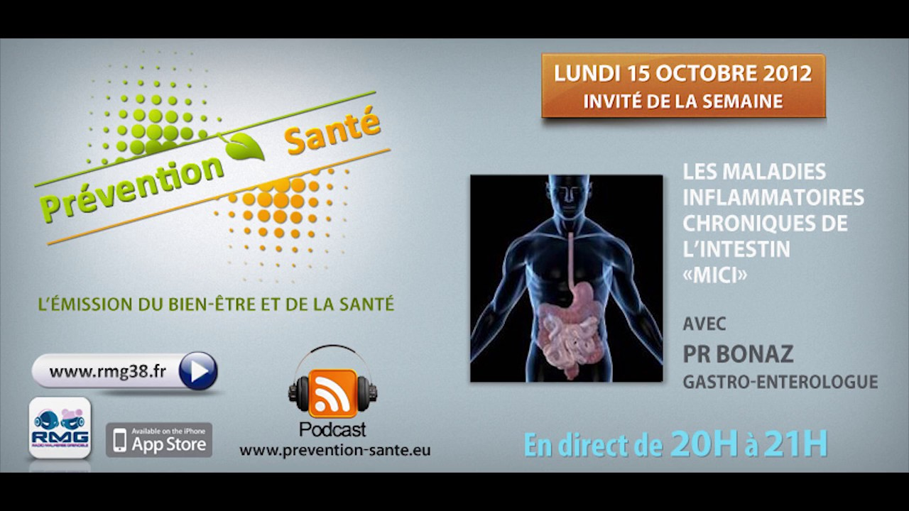 Maladies Inflammatoires Chronique de l'Intestin, Pr Bonaz, 15 octobre 2012